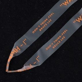 Шнурки силиконовые оранжевая надпись 130см уп 2 шт фото