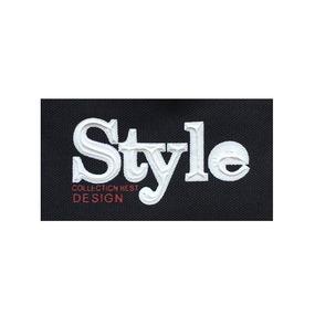 Нашивка Style черная 7.5*4см фото
