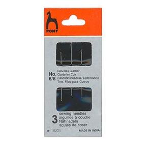 Иглы для кожи PONY 18304 размер 6-8 уп 3 шт фото