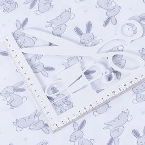 Ткань на отрез интерлок Милашки зайки 45-20 фото