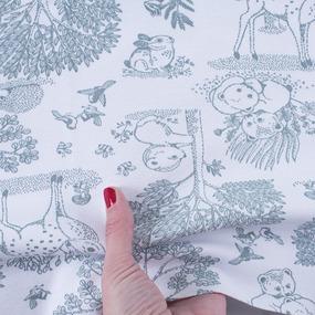 Ткань на отрез интерлок Лесная сказка 5323-19 фото