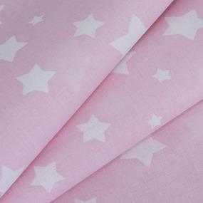 Ткань на отрез перкаль 150 см 13165/1 Звезда цвет розовый фото
