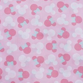 Ткань на отрез перкаль 150 см 13176/1 Минни цвет розовый фото