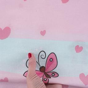 Ткань на отрез перкаль 150 см 16142/1 Малыши девочки фото