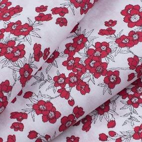 Ткань на отрез перкаль б/з 150 см 13153/6 Сакура цвет красный фото