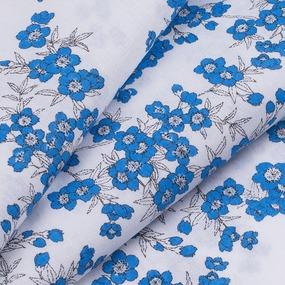 Ткань на отрез перкаль б/з 150 см 13153/5 Сакура цвет синий фото