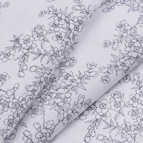 Ткань на отрез перкаль б/з 150 см 13154/1 Сакура цвет серый фото