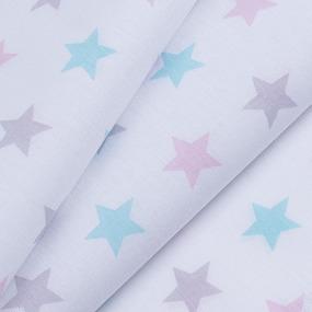 Ткань на отрез перкаль б/з 150 см 13167/1 Звезда цвет розовый фото