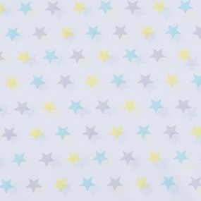 Ткань на отрез перкаль б/з 150 см 13167/2 Звезда цвет желтый фото