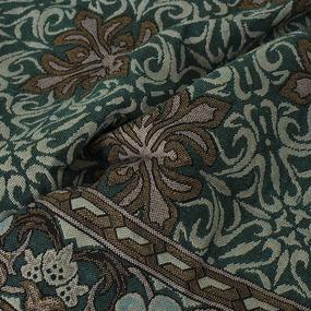 Покрывало гобелен Ромашка зеленый 147/210 фото