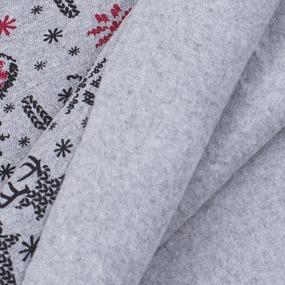 Ткань на отрез рибана лайкра ОЕ с начесом Олени цвет серый фото