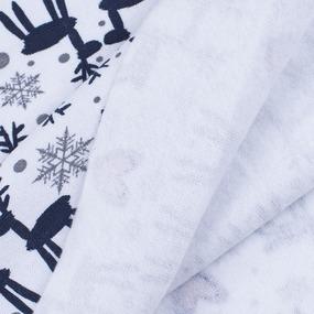 Ткань на отрез рибана лайкра ОЕ с начесом Северные олени фото
