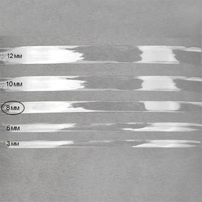 Лента силиконовая блестящая ширина 8 мм толщина 0.3 мм фото