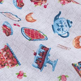 Ткань на отрез вафельное полотно 50 см 170 гр/м2 5488/1 Чаепитие фото