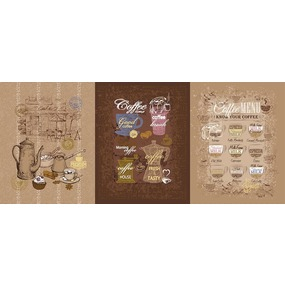 Ткань на отрез рогожка 150 см 11475/1 Кофейня фото
