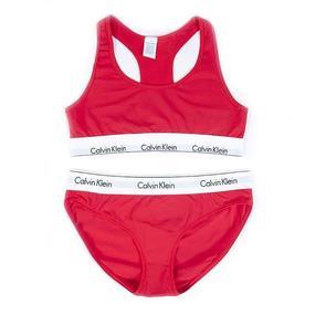 Комплект нижнего женского белья Топ+трусы красный L (44-46) фото