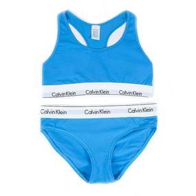 Комплект нижнего женского белья Топ+трусы голубой М (42-44) фото