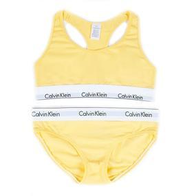 Комплект нижнего женского белья Топ+трусы желтый М (42-44) фото