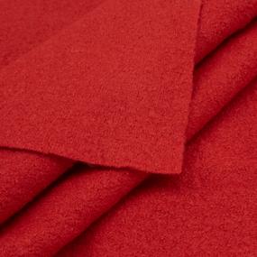 Весовой лоскут №1.21 Драп варёная шерсть красный 0,5 +0,95 + 1,05 + 1,10 м х 1,48 (+/-2см) м 2,330кг фото
