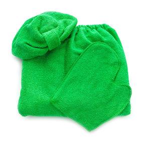 Набор для сауны женский цвет зеленый фото