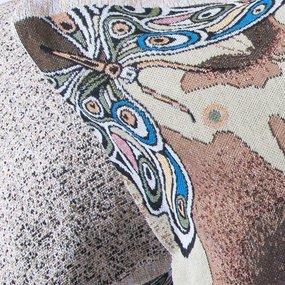 Наволочка гобелен декоративная 35/55 см Бабочка в тени фото