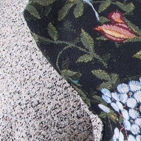 Наволочка гобелен декоративная 35/55 см Роза на черном фото