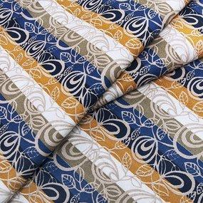 Ткань на отрез Тик 80 см цвет полоса фото
