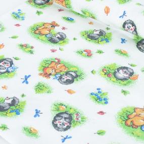 Пеленка детская фланелевая белоземельная 136-1П 120/73 фото