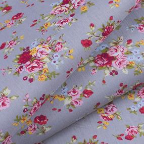 Ткань на отрез поплин 150 см 2157 Цветочное забвение фото