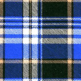 Ткань на отрез бязь плательная 150 см 186/1П Клетка цвет синий фото