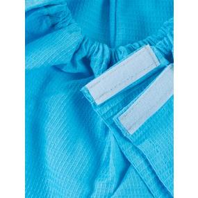 Вафельная накидка на резинке для бани и сауны женская цвет небесный фото