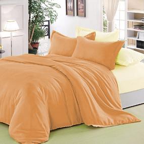 Полисатин гладкокрашеный 220 см цвет 11-1404 персиковый фото