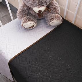Покрывало детское ульрастеп двухстороннее Черный/14-4203 серый 105/150 фото