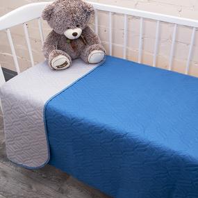 Покрывало детское ульрастеп двухстороннее 18-4141 синий 105/150 фото