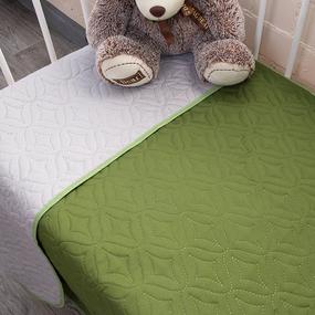 Покрывало детское ульрастеп двухстороннее 18-0108 зеленый 105/150 фото
