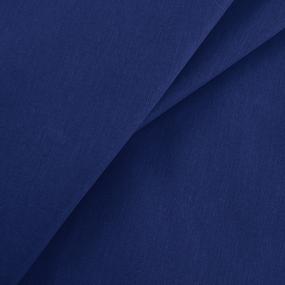 Ткань на отрез бязь гладкокрашеная 120 гр/м2 150 см цвет темно-синий фото