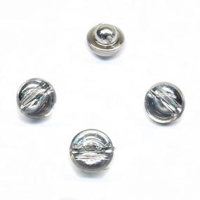 Пуговица ПР153 серебро уп 50 шт фото