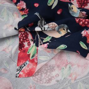 Ткань на отрез кулирка R11079-V1 Райский сад фото