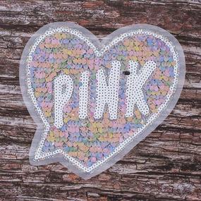 Аппликация Сердце Pink 20*19 см фото