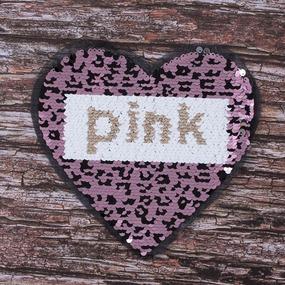 Аппликация Сердце Pink 22*20,5 см фото