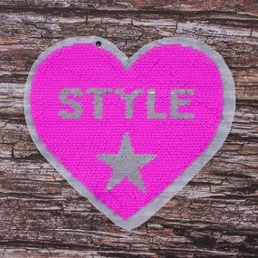 Аппликация Сердце Style 18,5*17,5 см фото