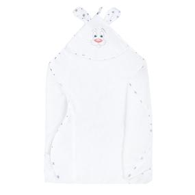 Уголок детский махровый с вышивкой белый фото
