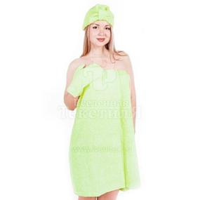 Набор для сауны женский цвет салатовый фото