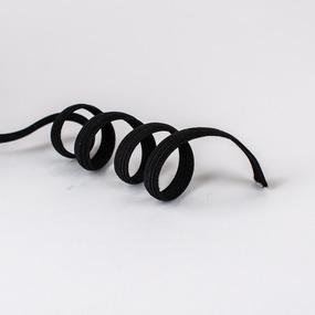 Резинка продежка 0,8см черная 1 ярд (упаковка 100 ярд ) фото