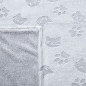 Покрывало велсофт стриженный Серые кошки 150/200 фото