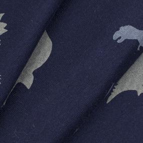 Ткань на отрез кулирка Динозавры 2197-V3 фото