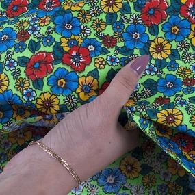 Маломеры бязь плательная 150 см 1609/4 цвет салат 1.2 м фото