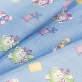 Ткань на отрез ситец О/М 80 см 8839 цвет синий фото