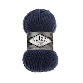 Пряжа ALIZE SUPERLANA MAXI 215-черника (25% шерсть 75% акрил) фото