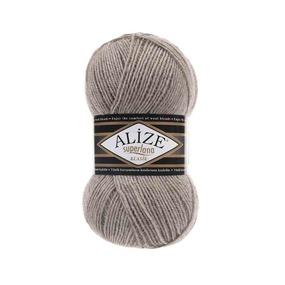 Пряжа ALIZE SUPERLANA KLASIK 207-светло-коричневый (25% шерсть 75% акрил) фото